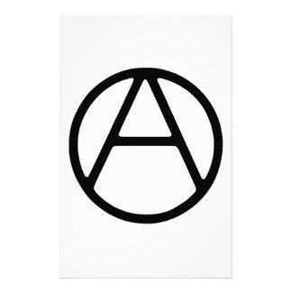 AO-OA Black Simple Monogram Custom Stationery