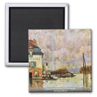 Ãœberschwemmung Of Port-Marly,  By Sisley Alfred Magnet