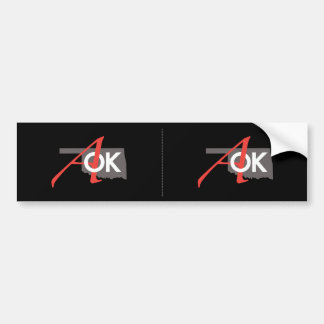 AOK Bumper Sticker 2 for 1