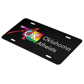 AOK License Plate - Aluminum