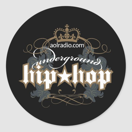 AOL Radio - Underground Hip-Hop Classic Round Sticker