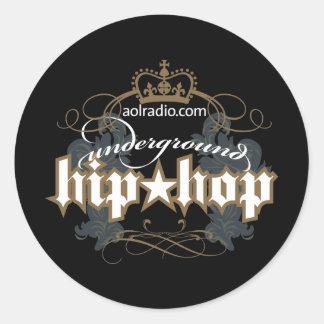 AOL Radio - Underground Hip-Hop Round Sticker