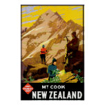 Aoraki Mount Cook New Zealand Poster