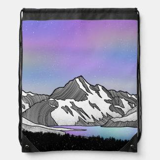 Aoraki Mount Cook NZ Drawstring Bag