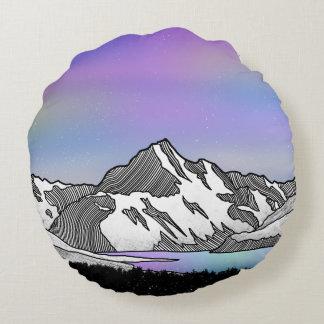 Aoraki Mount Cook NZ Round Pillow
