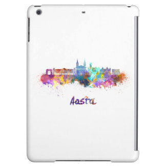 Aosta skyline in watercolor iPad air cases
