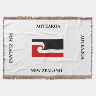 AOTEAROA / maori flag throw from new zealand