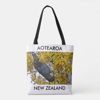 aotearoa new zealand tui 2 tote bag