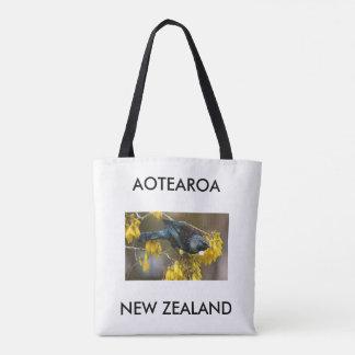 aotearoa new zealand tui tote bag