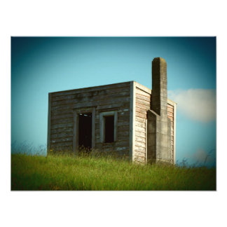 aotearoa settlers shack building house hut photo print