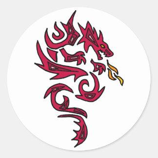 AP- Awesome Dragon Art Classic Round Sticker