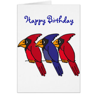 AP- Cardinal Birthday Card