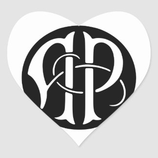 AP Monogram Heart Sticker