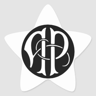 AP Monogram Star Sticker