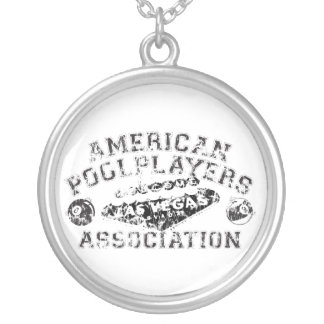 APA Distressed Design Silver Plated Necklace