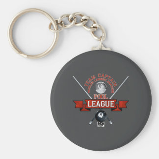 APA Team Captain Basic Round Button Keychain
