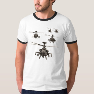 Apache AH-64 helicopter military Tshirt