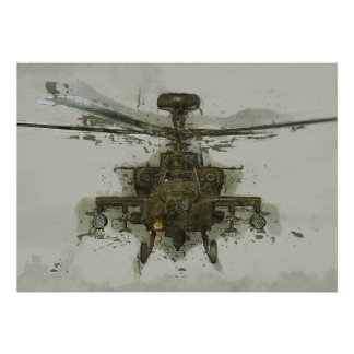 Apache Attack Helicopter Poster