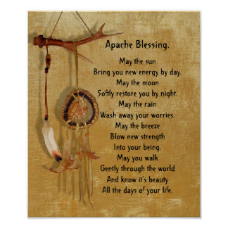 Apache Blessing dreamcatcher Poster