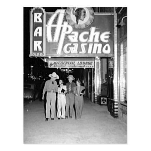 Apache Casino & Bar Vintage Las Vegas Photo Post Cards