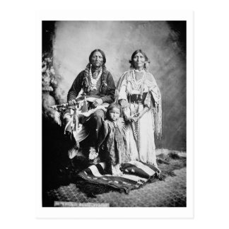 Apache Chief Antonio Maria with his family, 1897 ( Postcard