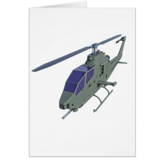 Apache helicopter in front view card