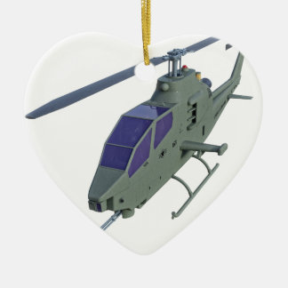 Apache helicopter in front view ceramic ornament