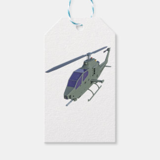 Apache helicopter in front view gift tags