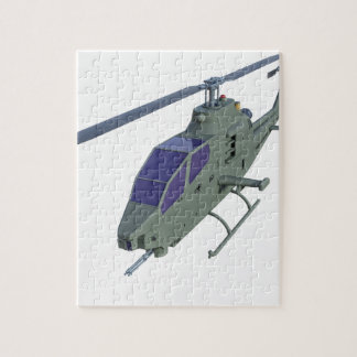 Apache helicopter in front view jigsaw puzzle