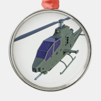 Apache helicopter in front view metal ornament