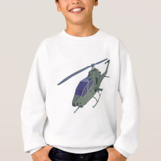 Apache helicopter in front view sweatshirt