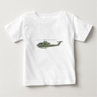 Apache helicopter in side view profile baby T-Shirt