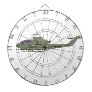 Apache helicopter in side view profile dartboard