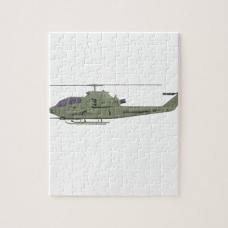 Apache helicopter in side view profile jigsaw puzzle