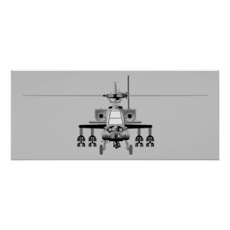 Apache Helicopter - Poster