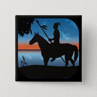 Apache Hunter 2 Inch Square Button