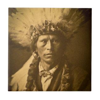 Apache Indian Chief Garfield Jicarilla Vintage Tile