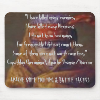 Apache Knife Fighting & Battle Tactics Mouse Pad