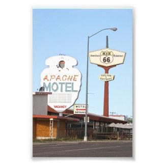 Apache Motel Sign, Tucumcari, New Mexico Photo Print