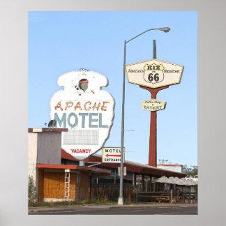 Apache Motel Sign, Tucumcari, New Mexico Poster