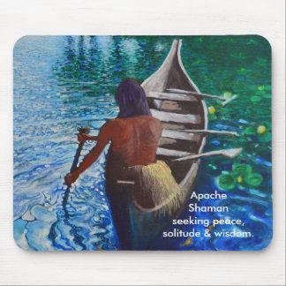 Apache  Shaman  seeking peace,  solitude & wisdom. Mouse Pad