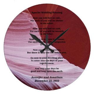 Apache Wedding Blessing Canyon Photo Clock Custom