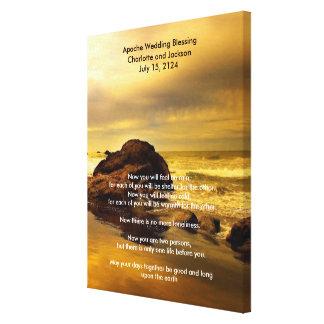 Apache Wedding Blessing Ocean Rock Canvas Print