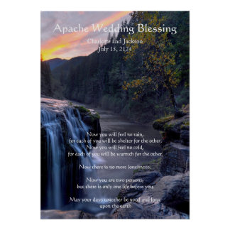 Apache Wedding Blessing River Poster