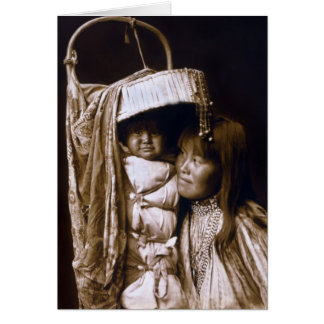 Apache Woman with her Papoose Card
