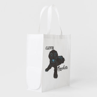 APAL - Chocolate Labrador | Dog Lover Shopping Bag Market Totes
