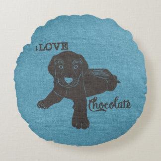 APAL - Chocolate Labrador | Dog Lovers Pillow Round Pillow