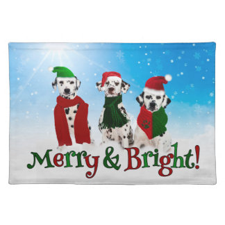 APAL - Christmas Dalmatian Dogs Placemats