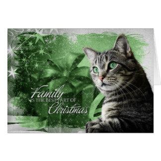 APAL - Christmas Silver Tabby Cat Card