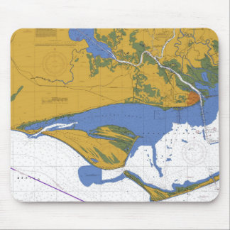 Apalachicola Bay Florida Nautical Chart Mouse Pad